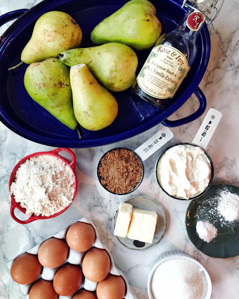 pear upside down cake ingredients