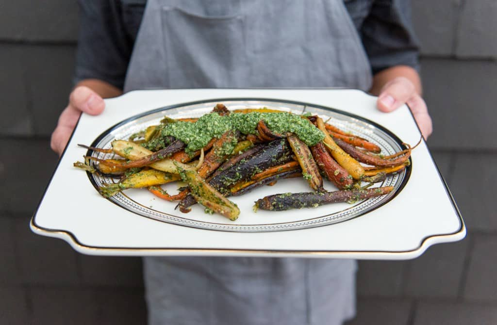 carrots with pesto2Friendsgiving_2015