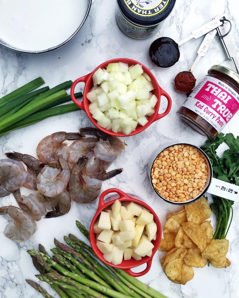 asparagus lentil soup_ingredients