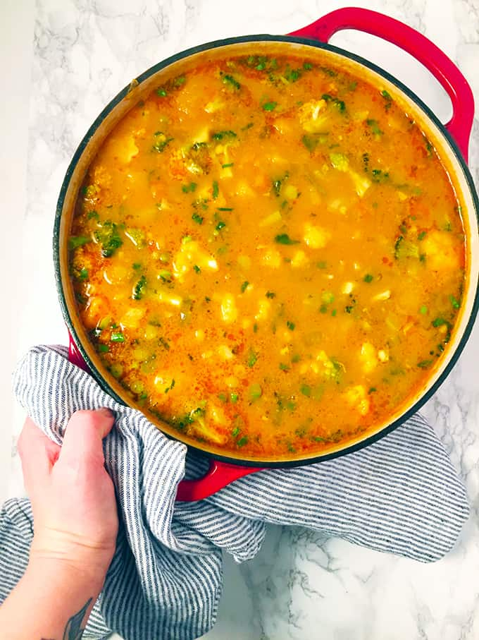Spicy Vegetable Coconut Curry Soup_6