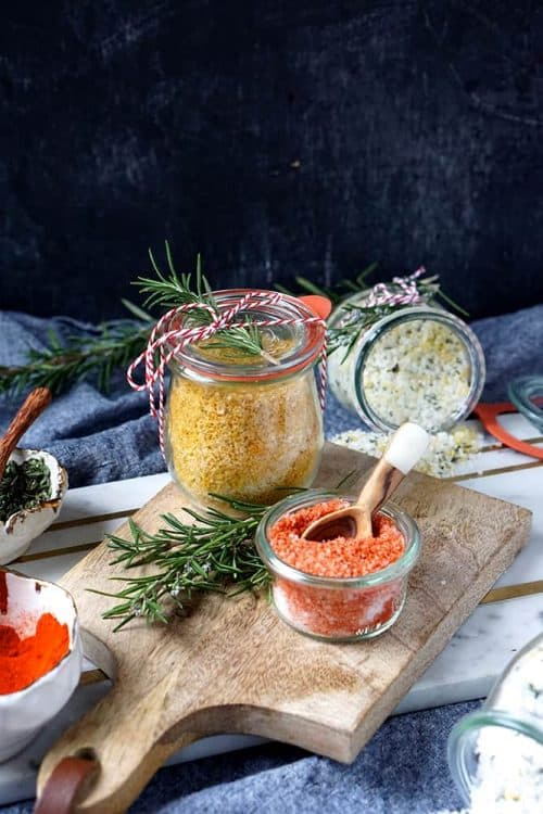 homemade flavored salt collection