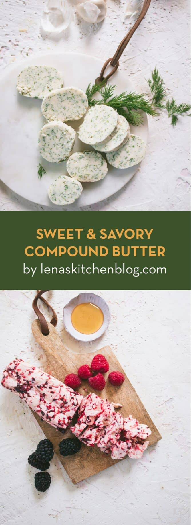 sweet and savory compound butter