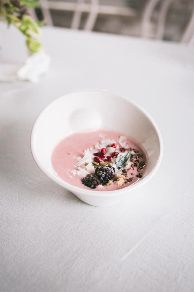 pink smoothie bowls