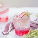 PRETTY PINK RHUBARB + ELDERFLOWER COCKTAILS