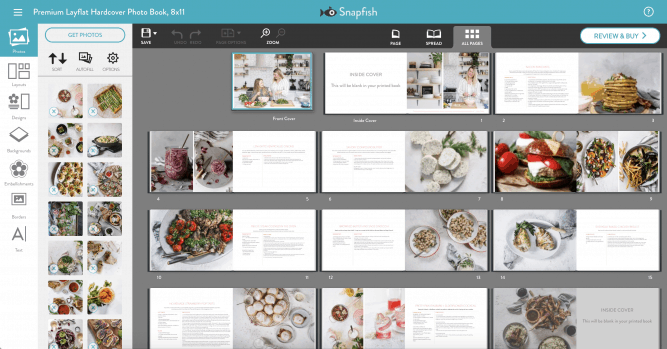 snapfish book process with lenaskitchenblog.com