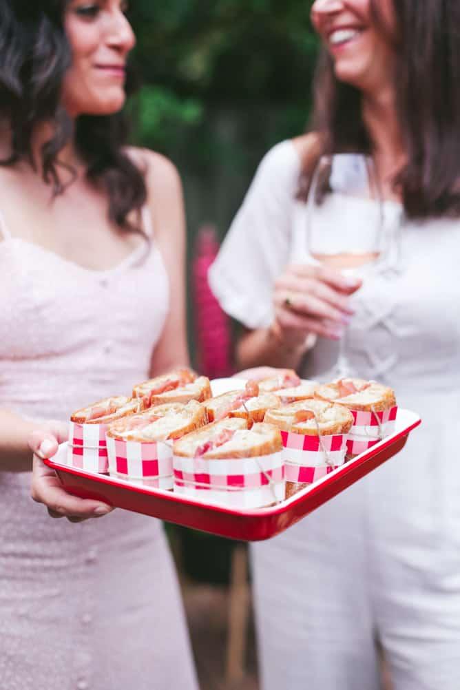 brie and prosciutto sandwiches