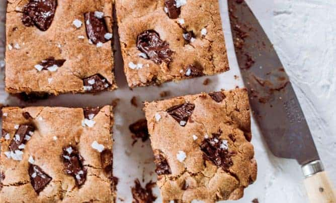 Peanut Butter Chocolate Chunk Bars Baking challenge