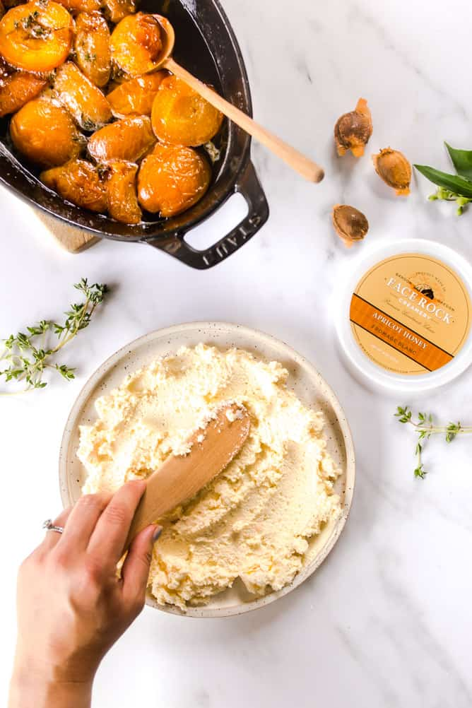 Apricot cheese spread by Face Rock Creamery