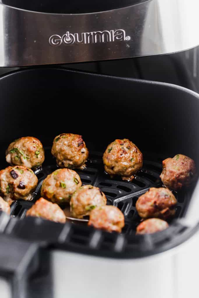 asian pork meatballs in air fryer