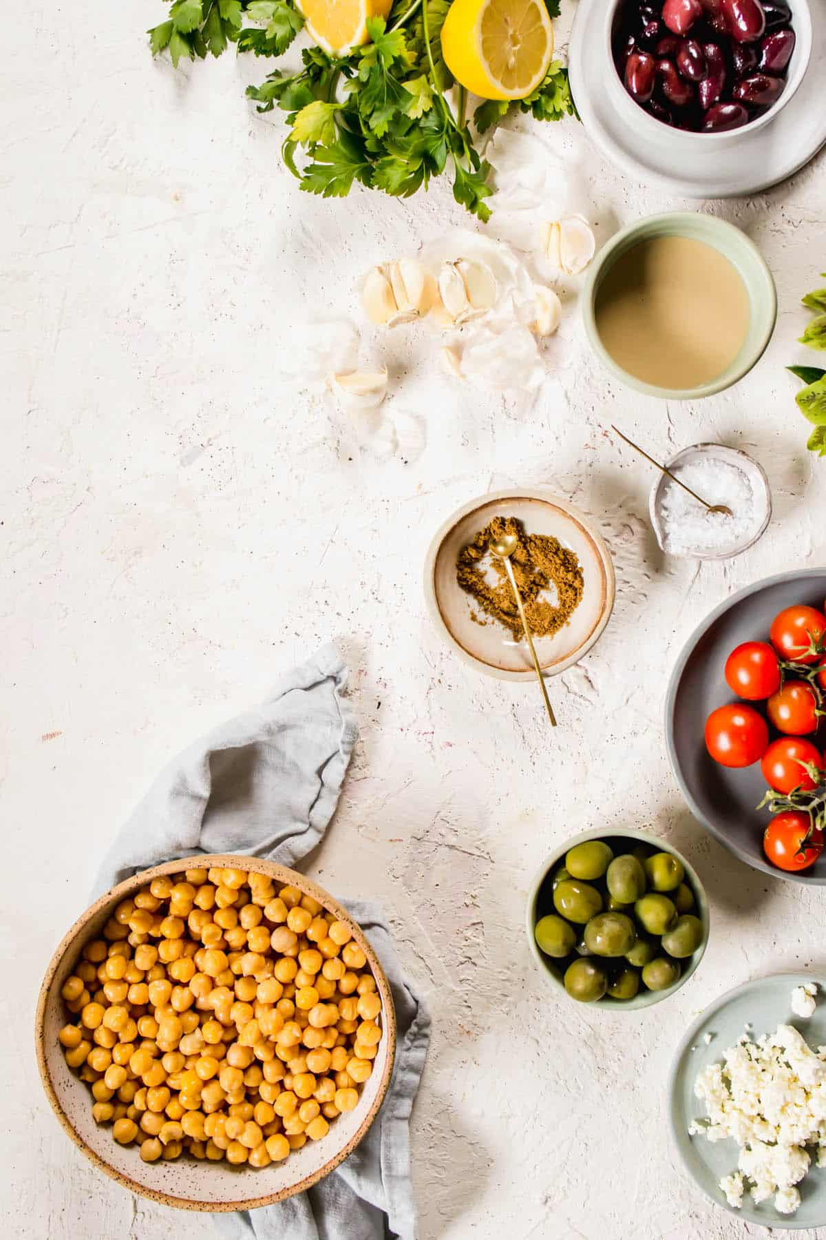 Ingredients for The Best Homemade Loaded Hummus